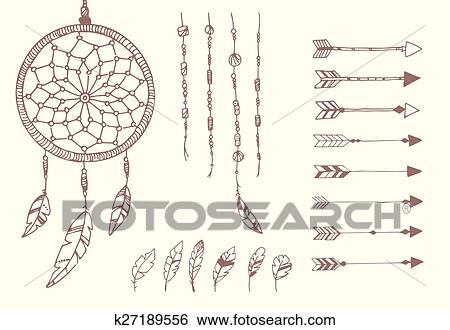 Drawing Native American Clip Art