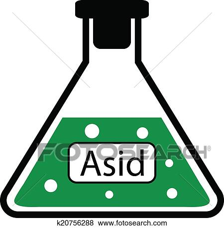 Clip Art Of Laboratory Glass With Asid K20756288 Search Clipart