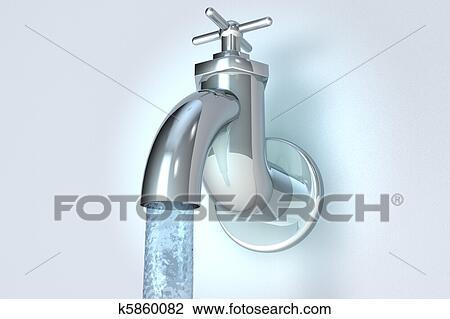 Clip Art Wasser Hahn Wasser K5860082 Suche Clipart Poster
