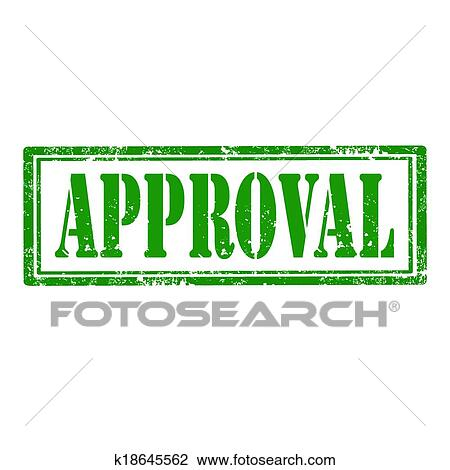 Clipart Of Approval Stamp K18645562