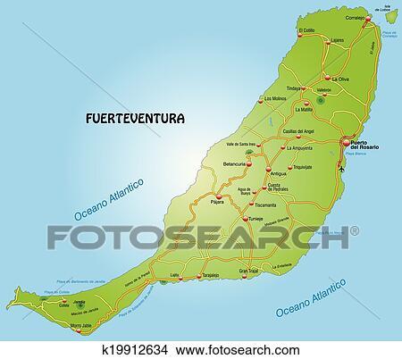 Carte, de, fuerteventura Clipart | k19912634 | Fotosearch