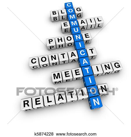 Communication Mots Croisés Banque D Illustrations