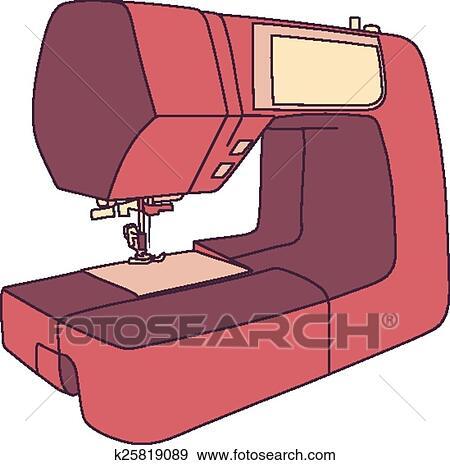 clipart dessin anim machine coudre k25819089 recherchez des cliparts des illustrations. Black Bedroom Furniture Sets. Home Design Ideas