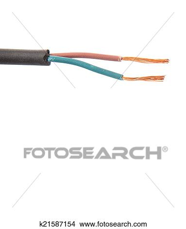 Groovy Exposed Electrical Wire Picture K21587154 Fotosearch Wiring Cloud Hisonuggs Outletorg