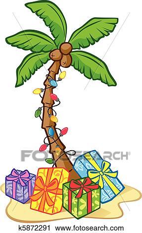 Hawaiian Christmas Tree Clipart K5872291 Fotosearch