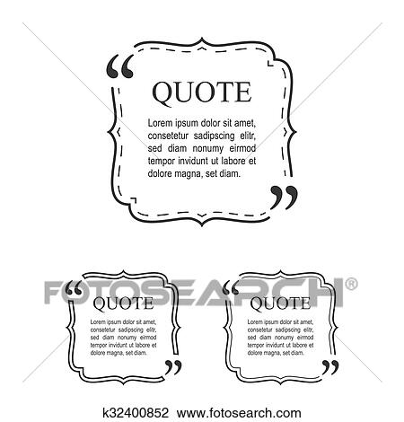 Clipart of Quote Template In Vintage Frame Set. Decorative Quotation ...