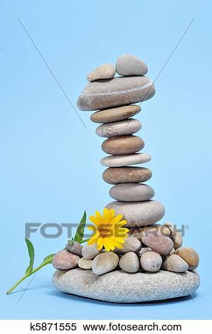 coleccin de imgen zen piedras y flor - Piedras Zen