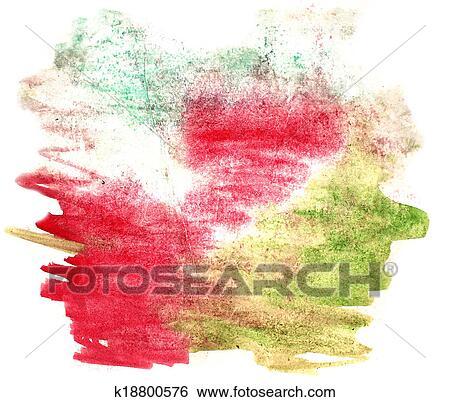 Eclaboussure Peinture Vert Rouges Tache Aquarelle Couleur Eau Encre Isole Aquarelle Fond Banque De Photographies K18800576 Fotosearch
