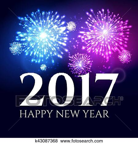 2017 new year background banner abstract firework poster xmas greeting wallpaper holiday christmas celebration card with firework