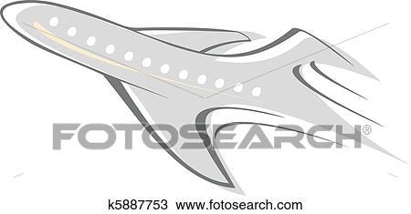 Clipart avion k5887753 recherchez des clip arts des - Dessin avion stylise ...