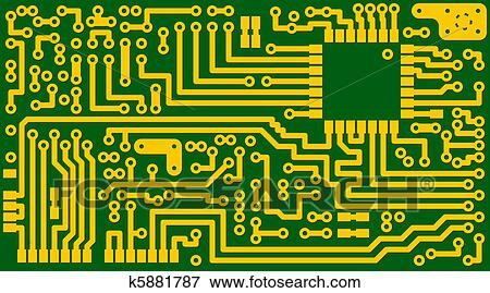 electronic green circuit background eps8 clip art k5881787clip art electronic green circuit background eps8 fotosearch