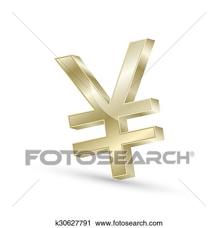 Clipart Of Japanese Yen Currency Gold Symbol Icon K30627791 Search