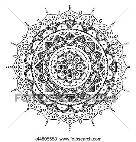 Mandala Indianas Antistress Medallion Abstratos Islamic