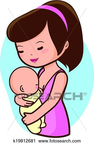 clipart of mother breastfeeding baby k19812681 search clip art rh fotosearch com breastfeeding mother clipart breastfeeding clipart