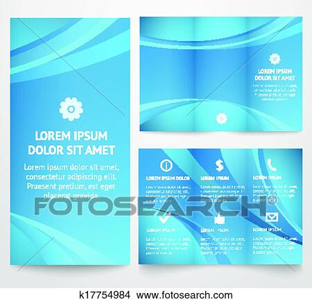 clipart of professional three fold business flyer template vector