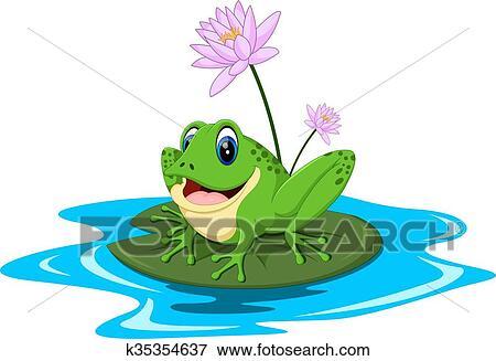 Dessin grenouille rigolote colorier les enfants - Dessin de grenouille verte ...