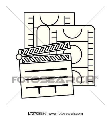 Ripa Cinema Com Fita Isolado Icone Clipart K72708986