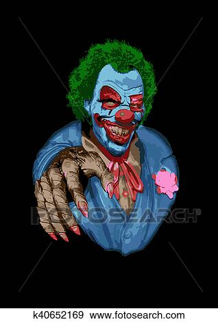 Scary Clown Stock Illustration K40652169 Fotosearch