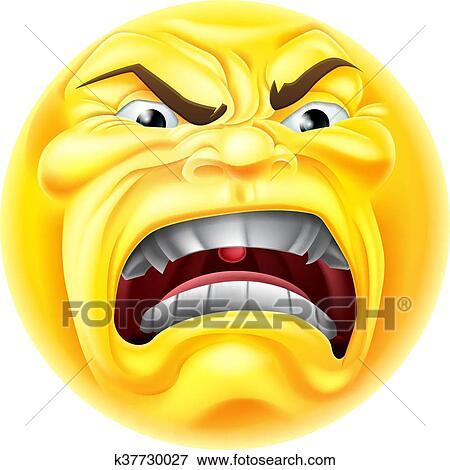 clip art of angry emoji emoticon icon k37730027 search clipart