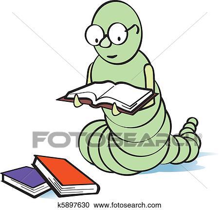 Bücherwurm clipart  Clipart - bücherwurm k5897630 - Suche Clip Art, Illustration ...