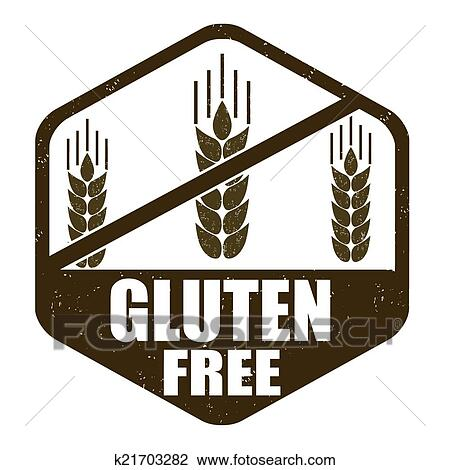 Clipart of Gluten free stamp k21703282 - Search Clip Art ...