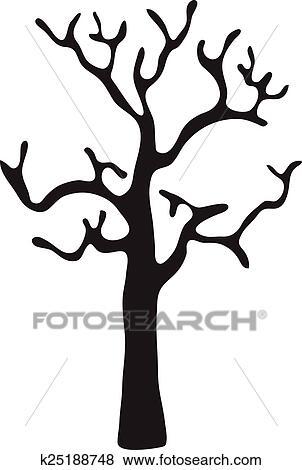 clipart noir arbre sans feuilles vecteur fotosearch recherchez des - Arbre Sans Feuille
