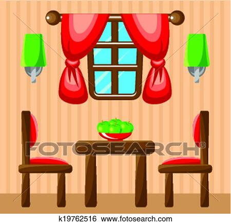clipart salle manger interior k19762516 recherchez. Black Bedroom Furniture Sets. Home Design Ideas