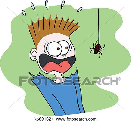 clip art of scary spider k5891327 search clipart illustration rh fotosearch com scary clipart free scary clipart