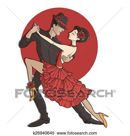 Tango dancers images