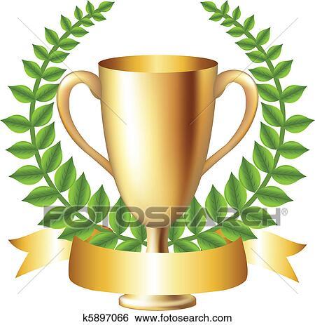Clip Art Tazza Oro Con Corona Dalloro K5897066 Cerca Clipart