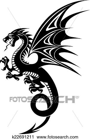 Black Dragon Clipart K22691211 Fotosearch