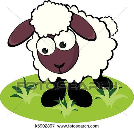 Clipart dessin anim mouton k5902897 recherchez des - Mouton dessin anime ...