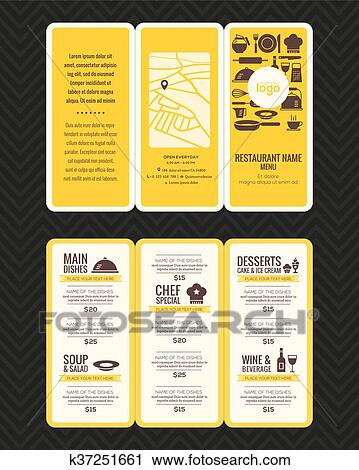 clipart of modern restaurant menu design pamphlet template k37251661