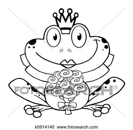 Clipart - aufreißen, von, a, frosch, braut k5914140 - Suche Clip Art ...
