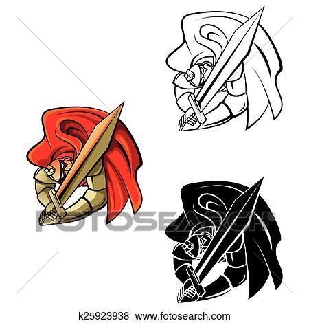 Ausmalbilder Ritter Zeichen Clip Art