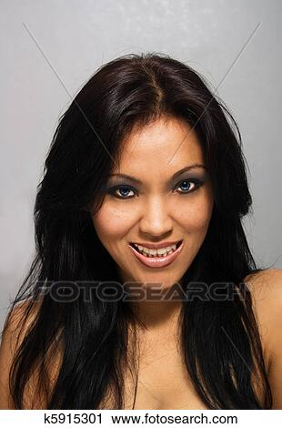 girl Blue eyed chinese