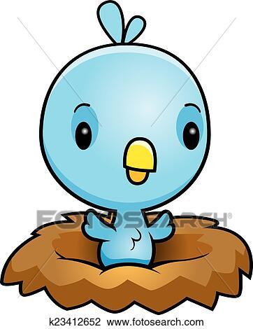 clipart of cartoon blue bird nest k23412652 search clip art rh fotosearch com bird nest clip art transparent background bird nest clip art black and white