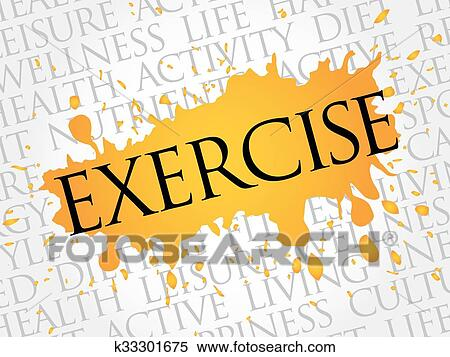 Exercise Word Cloud Fitness Clipart K33301675 Fotosearch