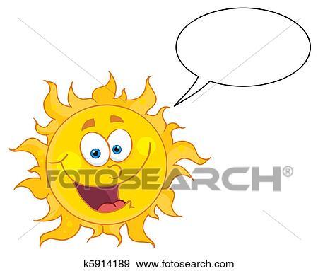 clip art of happy sun talking k5914189 search clipart rh fotosearch com clipart walking clip art talking bible