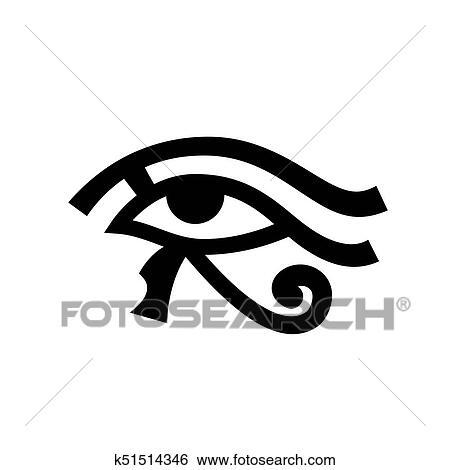 Horus eye (Wadjet) Clip Art