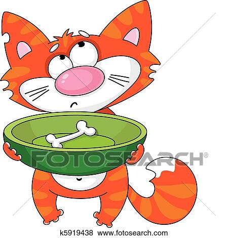 clip art of hungry cat k5919438 search clipart illustration rh fotosearch com clipart hungry caterpillar clipart angry face