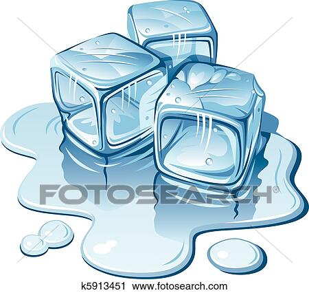 clipart of ice cubes k5913451 search clip art illustration murals rh fotosearch com ice cubes clipart black and white melting ice cubes clipart