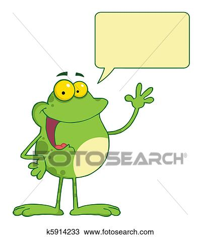 clipart of waving and talking frog k5914233 search clip art rh fotosearch com clipart walking clipart walking