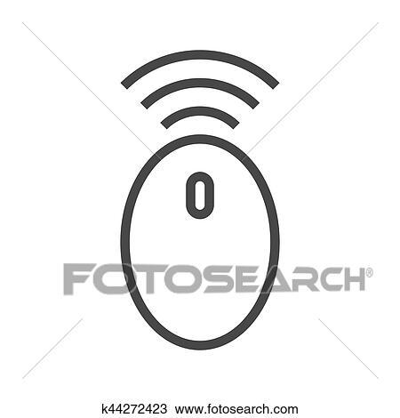 Clipart - drahtlose computermaus, linie, symbol k44272423 - Suche ...