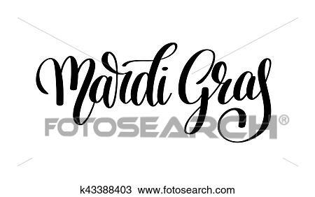Clipart Fasching Schwarz Weiss Calligraphic Schriftzug Plakat