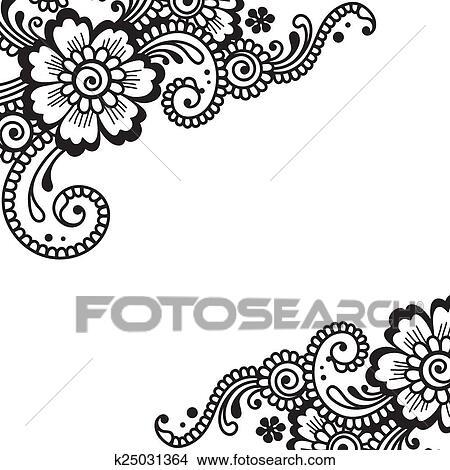 Clipart of flower vector ornament corner k25031364 search clip art white flower corner lace ornament mightylinksfo