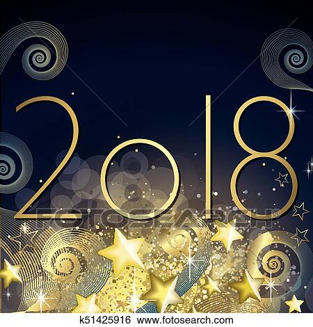 clip art happy new year 2018 fotosearch search clipart illustration posters