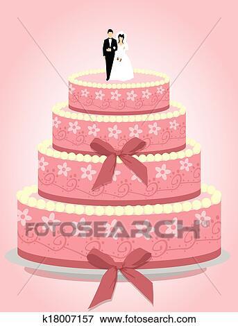 Hochzeit Kuchen Clip Art K18007157 Fotosearch