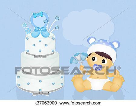 Stock Illustrationen - kuchen, für, taufe k37063900 - Suche Clipart ...