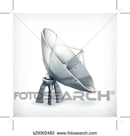 Clipart - parabolisch, antenne, symbol k29302483 - Suche Clip Art ...